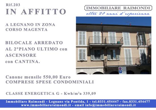 Immobiliare raimondi agenzia immobiliare legnano for Affitto cassano magnago bilocale arredato